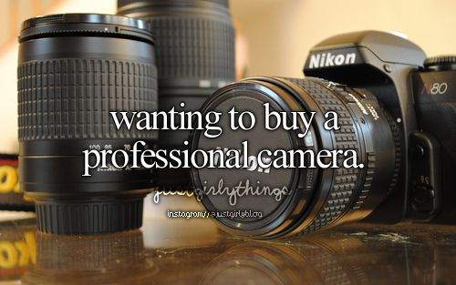 Wanting to buy a professional camera - just girly things