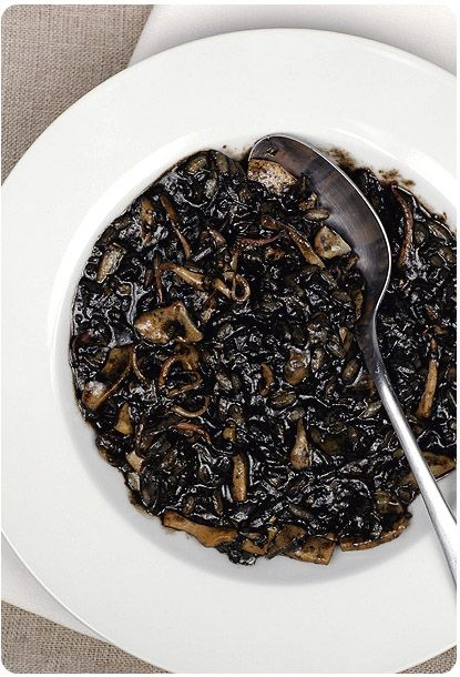 Cannot wait to make my favourite Venetian food soon!  squid ink risotto