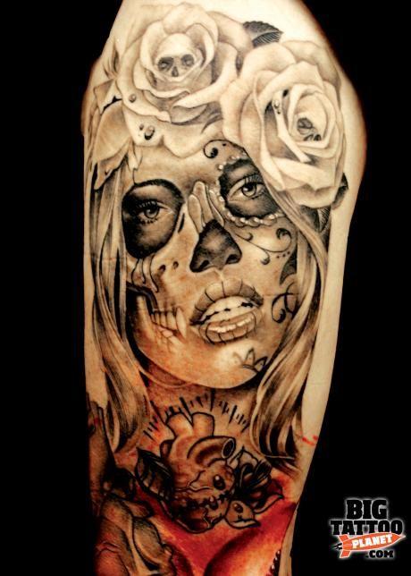 Another sugar skull inspired tattoo