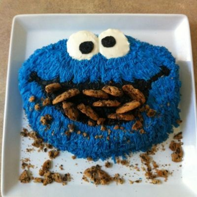 DIY Cookie Monster Cake Tutorial