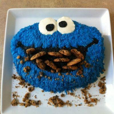DIY Cookie Monster Cake Tutorial