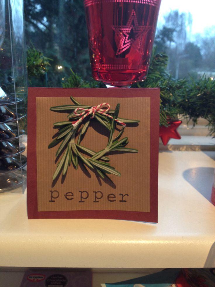 Menu/Plaats kaartjes Kerst 2013