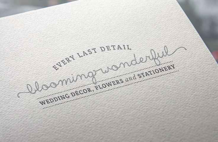 www.newnormal.co.za | Blooming Wonderful's logo ties everything together – the fact that they take care of all the wedding details – from the save-the-date to the table name card to the favour and thank you note – they do it all.