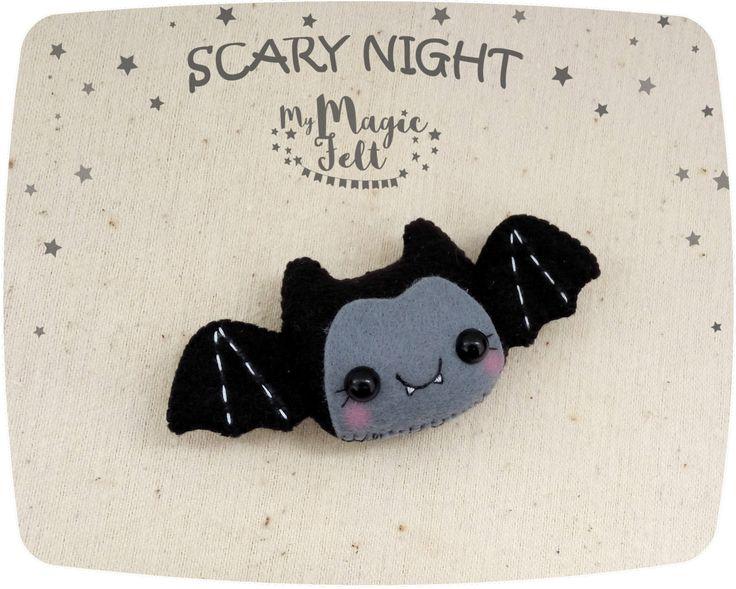 Felt Halloween decor Bat ornament Halloween toy felt ornaments Halloween gifts Party Favor decorations Halloween cute felt by MyMagicFelt on Etsy