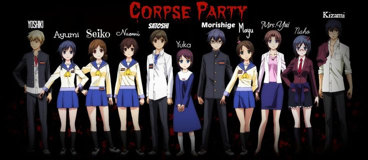 corpse party characters..... I forgot like all there names, so this is really helpful