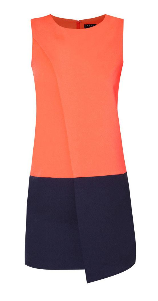 Colourblocked Spliced Dress by Ezra by Zalora. Orange/Blue Colourblock color. Keeping it modest and minimalistic this dres is sure stylish. With zipper clossure, round neck, sleevless. Keep it simple yet polished with this dress.     http://zocko.it/LDcL2