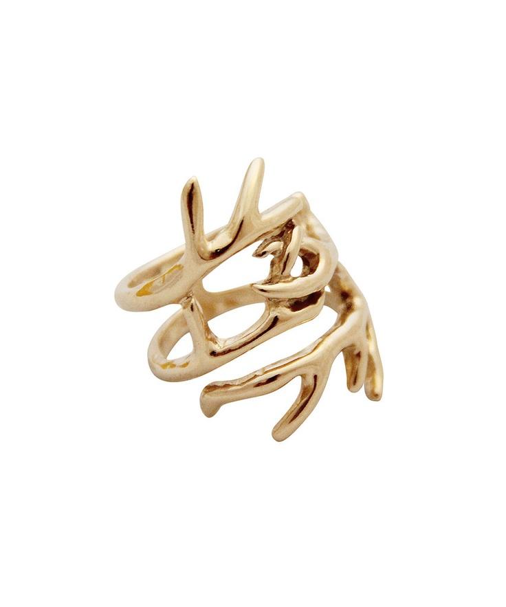 Antler wrap ring: Antlers Wraps, Hoh Fashion, Clothing Stuff, Hairs Clothing, Rings I Love, 1960 Antlers, House Of Harlow, Fashion Favorite, Wraps Rings