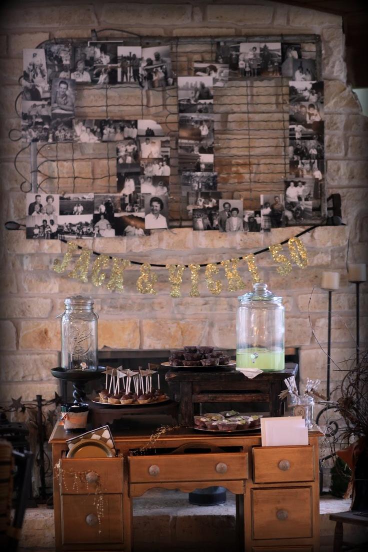 50th Anniversary Dessert Table