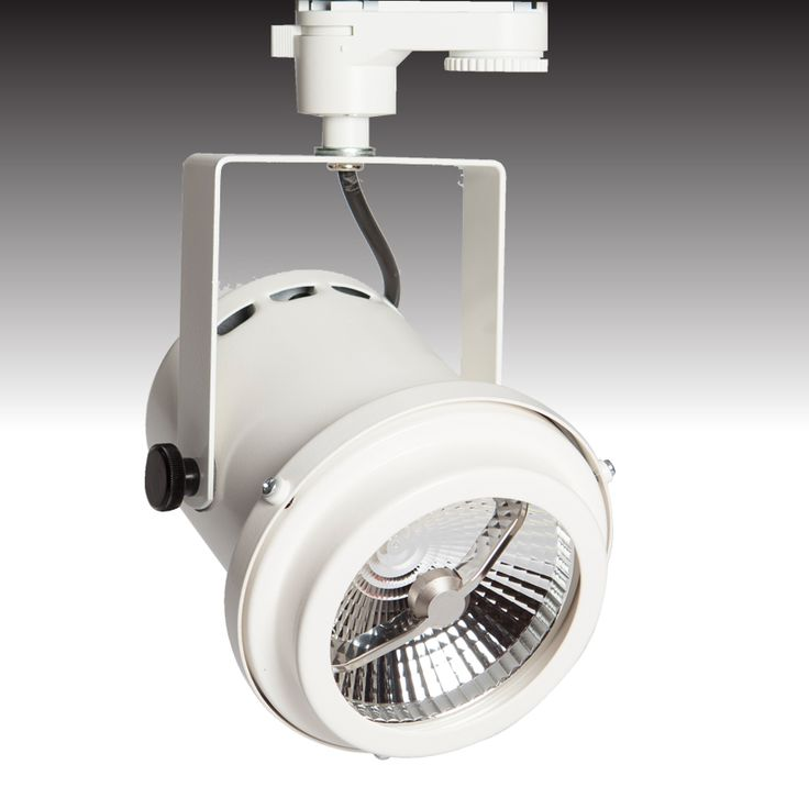The TRi-PIN-LED trackspot available in 'white' - from Photec Lighting #led #spotlight #lighting