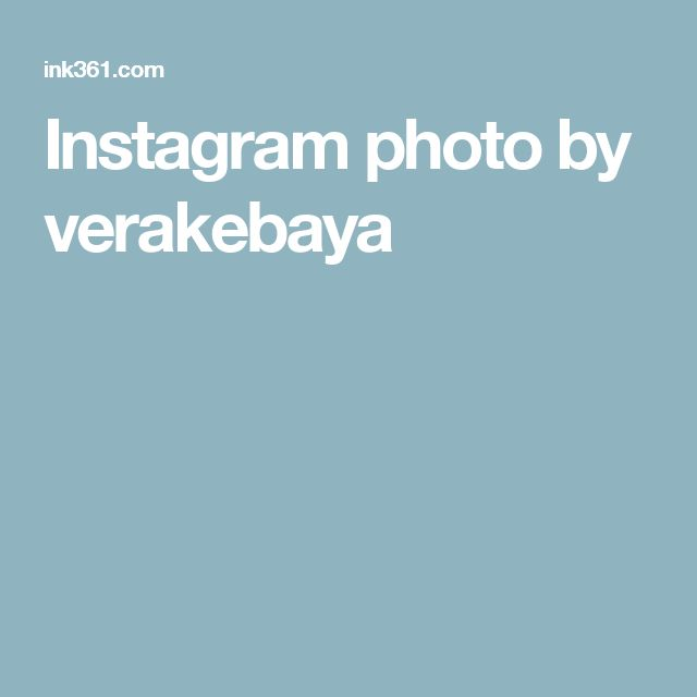 Instagram photo by verakebaya