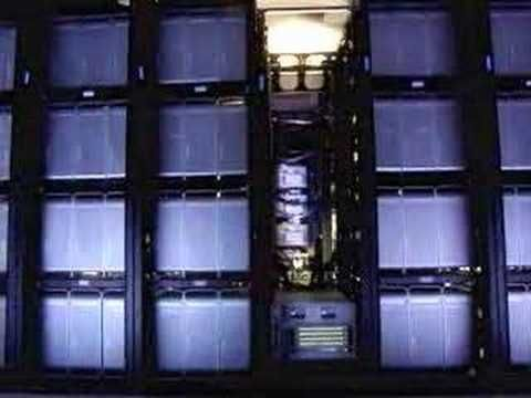 Virginia Tech Apple G5 super computer cluster - YouTube