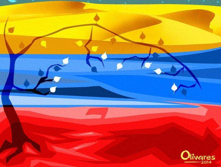 Arte con nuestra bandera: Edo. Falcón. Donde el mar se convierte en medanos Excelente ilustración del artista Oscar Olivares
