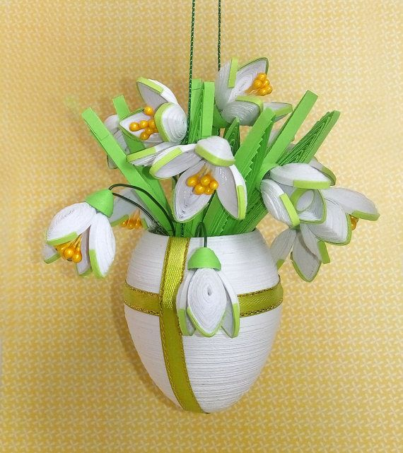 Quilled Easter egg with flowers Quilling egg with by QuillingLife