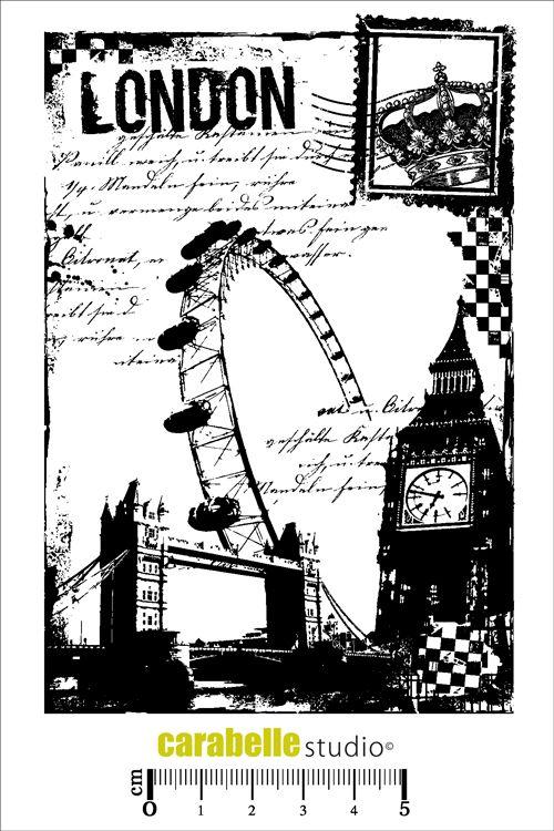 Acheter tampon scrap: Tampon LONDON - CARABELLE STUDIO
