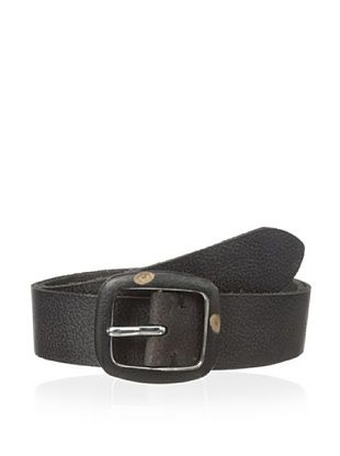 47% OFF John Varvatos Men's Leather Belt with Covered Centerbar Buckle (Black)