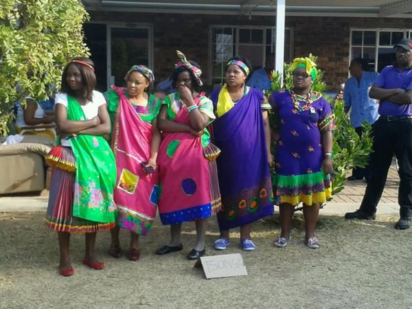 Some of the women dressed in Tsonga traditional attires celebrated Heritage Day