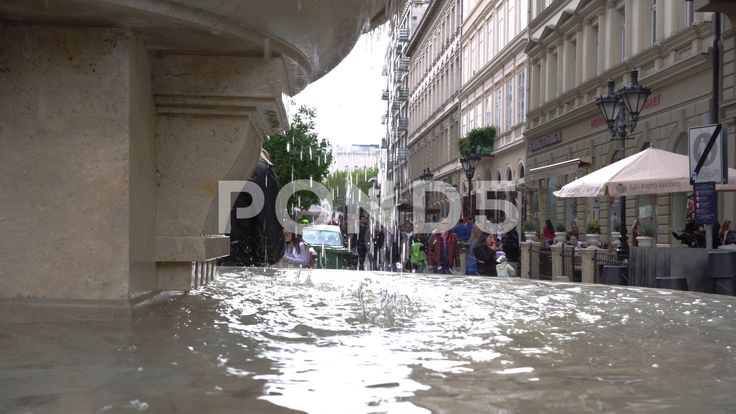 Fountain in city square - Stock Footage | by botiordog