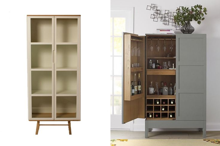 customise a cabinet to create an at-home bar