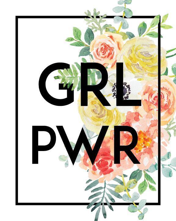 Grl Pwr Print Instant Download 5x7 Card 8x10 Arte Feminista Arte Digital De Garota Imagens Para Quadros Decorativos