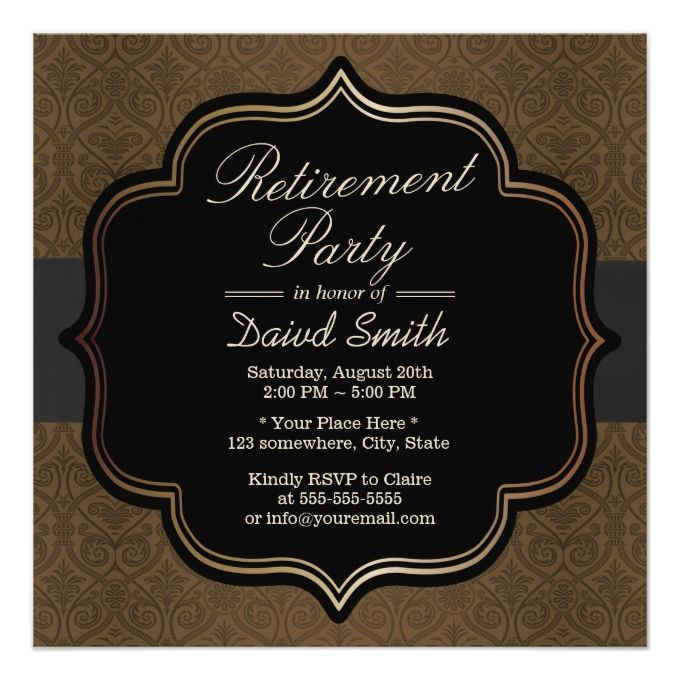 1341 best images about Retirement Party Invitations – Invitation to Retirement Party