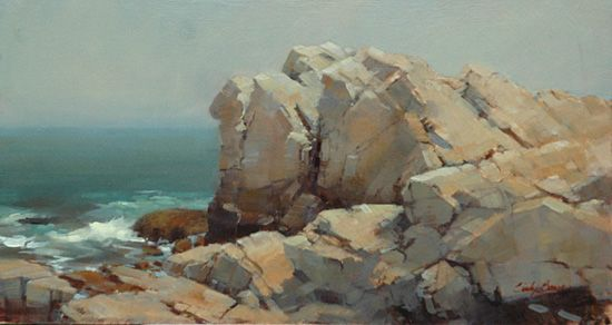 Oil paintings of rocks and boulders great art by great - Painting rocks for garden what kind of paint ...