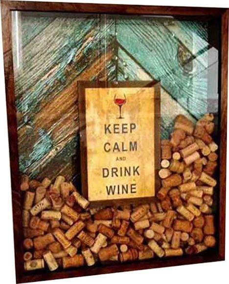 Quadro para Porta rolhas vinho decoração