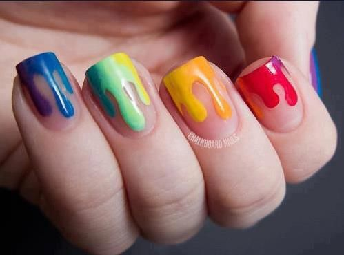 paint! #nail #Beauty #Fashion #pmtsogden #paulmitchellschools #cute #nails #nailart #love #manicure #beautiful #cute #blue #green #yellow #orange #red #paint #paintbrush  http://weheartit.com/entry/57058789