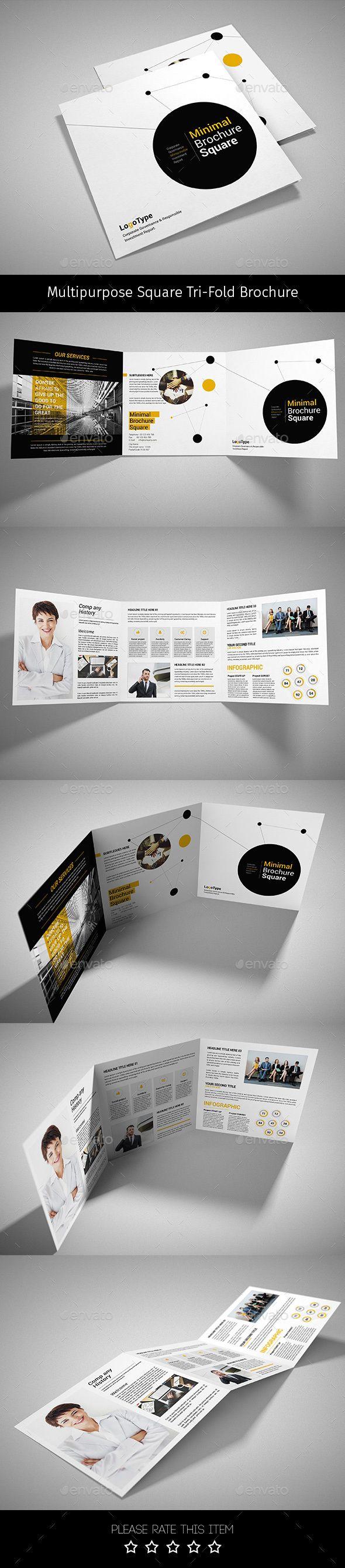 Corporate Tri-fold Square Brochure Template PSD #design Download: http://graphicriver.net/item/-corporate-trifold-square-brochure-07/14319081?ref=ksioks