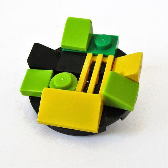 Funny Brooch-From LEGO® Bricks-Cool Brooch-Hipster by ThinkBricks