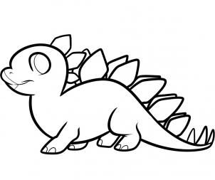 how to draw a stegosaurus for kids dinosaurs - Drawing For Boys