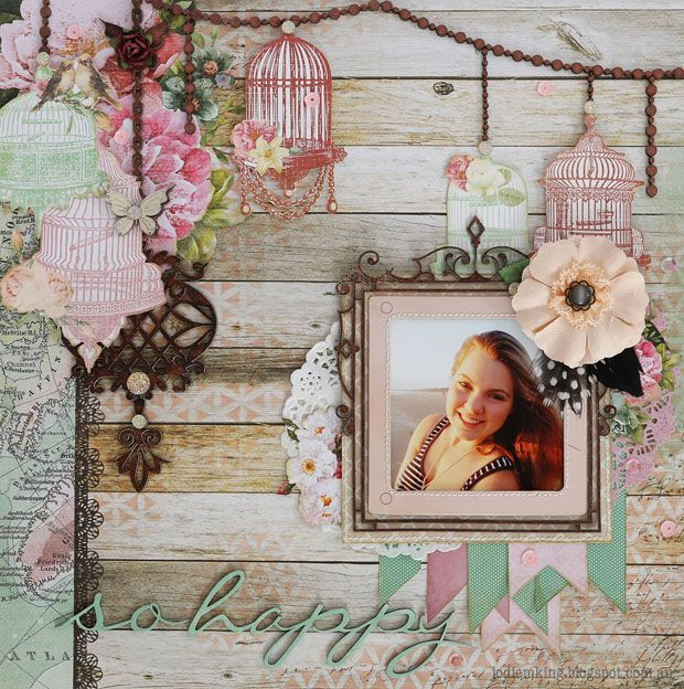 So Happy - Kaisercraft - Oh So Lovely Collection http://jodiemking.blogspot.com.au/2015/04/your-creative-wings-vintage-inspiration.html