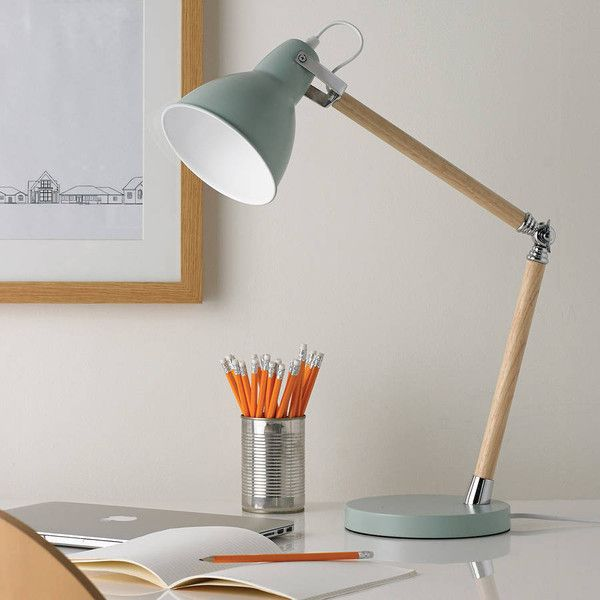 Primrose & Plum Pastel Wooden Desk Lamp Blue, Pink And Cream (275 BRL) ❤ liked on Polyvore featuring home, lighting, desk lamps, blue, warm white lights, blue desk lamp, beige lamps, alabaster lamps and wood desk lamp