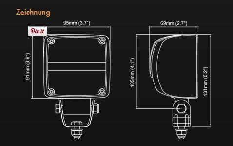 A.Pieringer NORDIC KL 1002 LED Arbeitsscheinwerfer 1.500lm operativ / 2.400lm theoretisch 24W, 9-32W, Flood