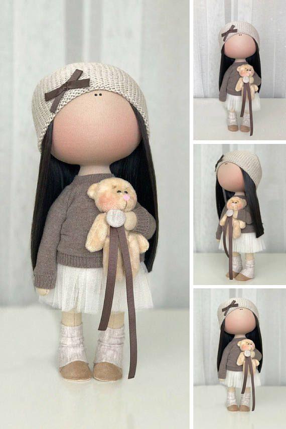 Poupée Tilda doll Handmade doll Fabric doll Textile doll Cloth