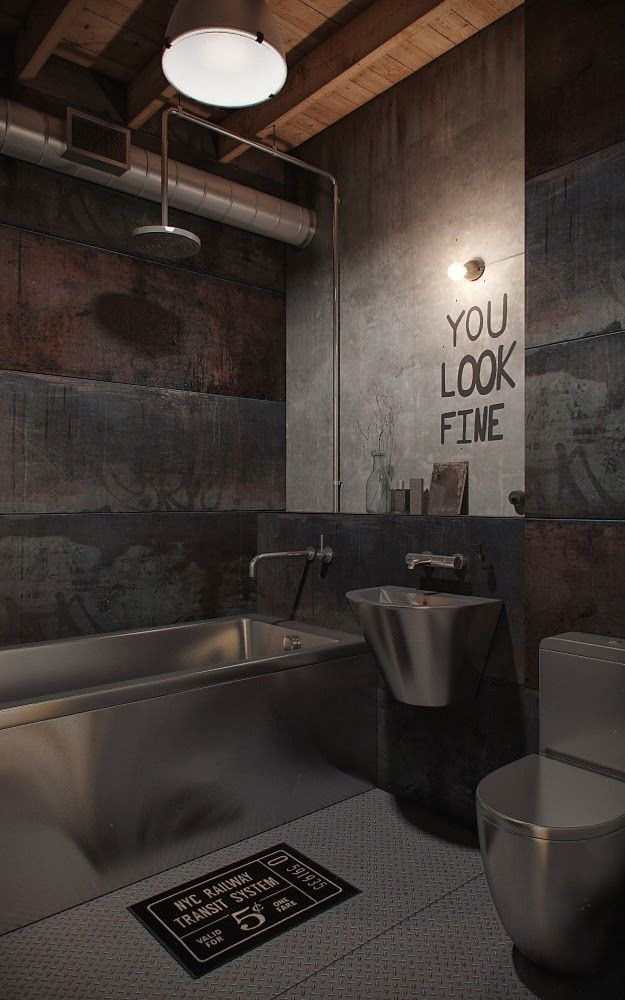 17 Best ideas about Industrial Bathroom on Pinterest   Industrial bathroom  design  Bathroom and Industrial farmhouse. 17 Best ideas about Industrial Bathroom on Pinterest   Industrial