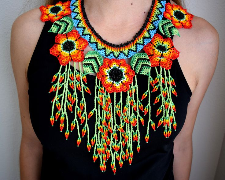 Amazing Colombian Glass bead work from http://www.littlecolibri.com