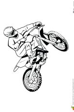 Coloriage Moto-cross sur circuit   Coloriage moto, Dessin ...