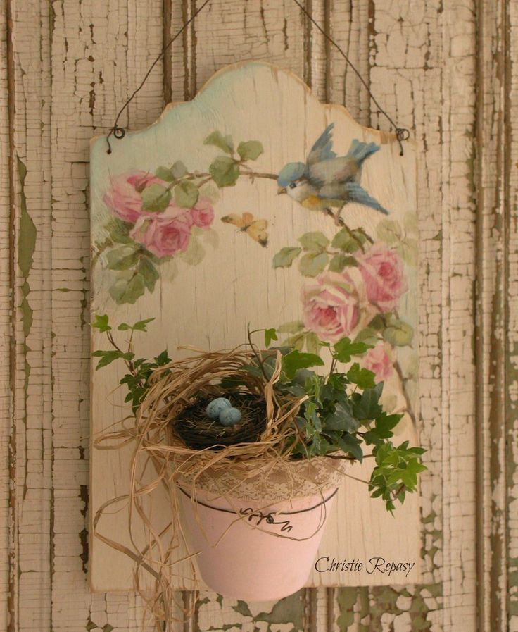 """The Vintage Marketplace Our March 7th-9th 2014 show """"Through the Garden Gate"""" is quickly approaching! Here is a little peek at one of Christie's Spring creations.  —  with Alice Bennefield Van Doran"""