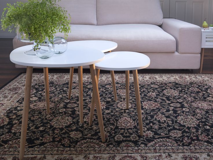 Mocka's Maya Trio is a contemporary set of three side tables that look great in any home!