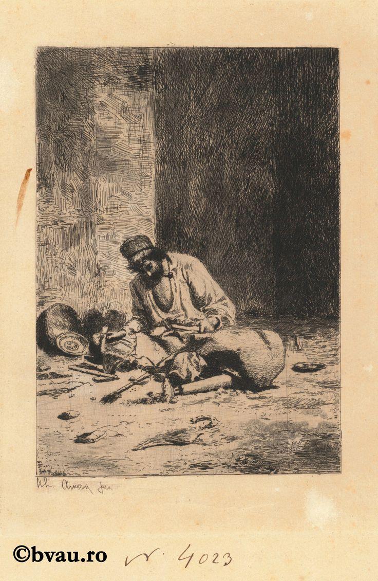 """Theodor Aman, Spoitorul. Imagine din colecțiile Bibliotecii """"V.A. Urechia"""" Galați."""