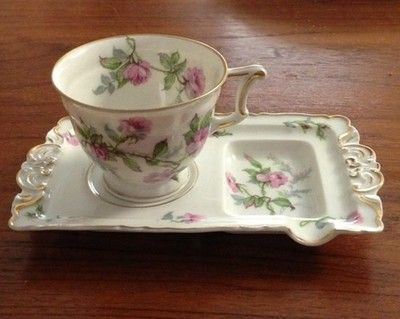 Haviland Limoges Sylvia Teacup with saucer/teabag holder ...