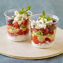 Image of  Individual Spicy Greek-Layer Dips