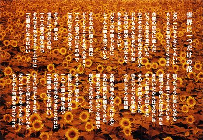 ポストカード SMAP 世界に一つだけの花