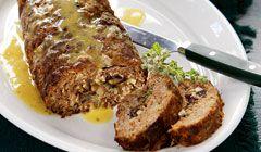 kathimerini.gr | Ρολό κιμά γεμιστό με μανιτάρια και σάλτσα μουστάρδας