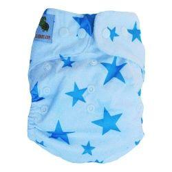 pieluszka wielorazowa PUL niebieskie gwiazdki