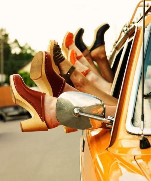 Schuhe der 70er: Clogs