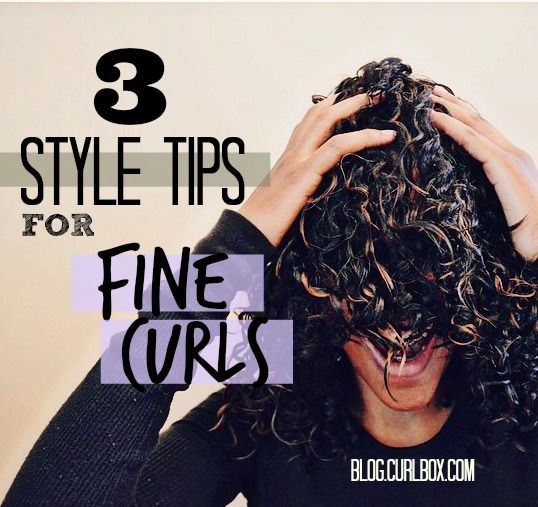 3 style tips for fine curls - http://blog.curlbox.com/2015/01/05/3-style-tips-for-fine-curls/
