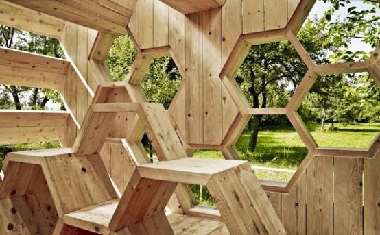Modular hexagonal house