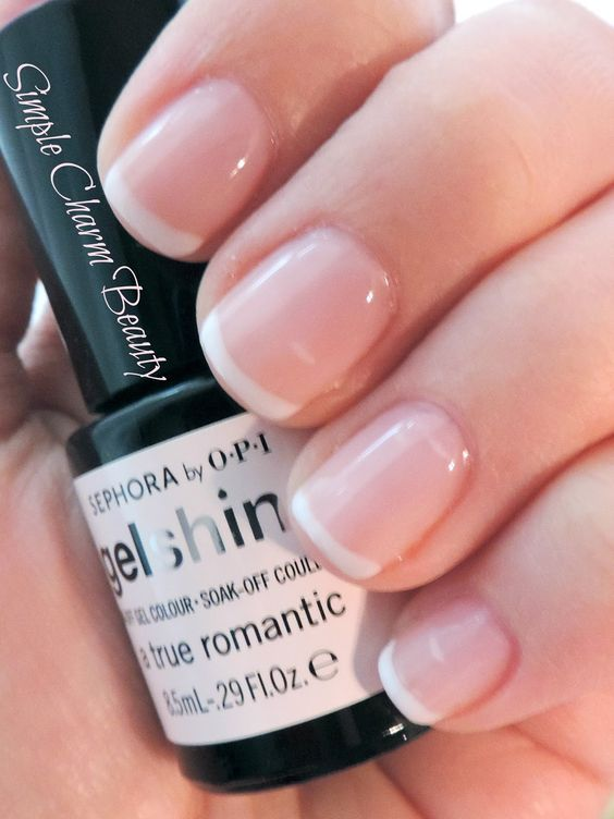 Sephora by OPI Gel French Manicure kit A True Romantic and White Hot- Simple Charm Beauty. Gel polish