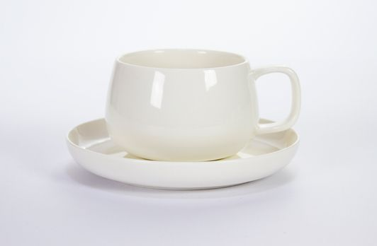 Barry Cup & Saucer White | T2 Tea